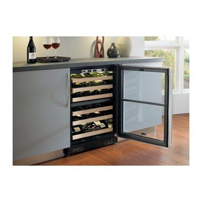 44 Bottle Dual Zone Wine Cooler Hinge: Left, Door Finish: Designer Glass Door by Marvel. $2173.99. 6SDZE-BD-L Hinge: Left, Door Finish: Designer Glass Door  Description • Features •Specifications  Description The Dual Zone Wine Cellar offers the control, consistency and convenience needed to serve wine immediately at optimum temperatures and from two distinct zones. Each of the two zones is monitored by Marvel s exclusive Sentry System  refrigeration monitor, allo...