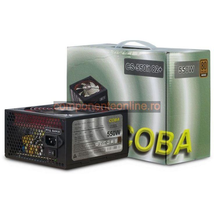 Sursa PC 550W, ATX, Coba Power, 80 Plus, CS-550IT, Inter-Tech - 328946