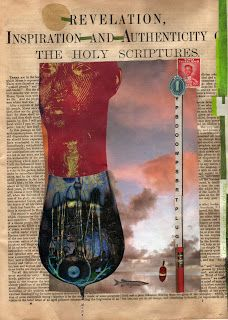 """""""marvelous unity"""" paper collage, by gregory a. milinovich, from the unlikely orange: collage"""