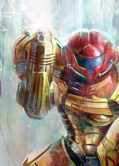 Samus from Metroid fan art
