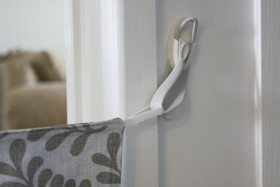 White Command Hooks Add-on for fabric baby gates by sewamelie