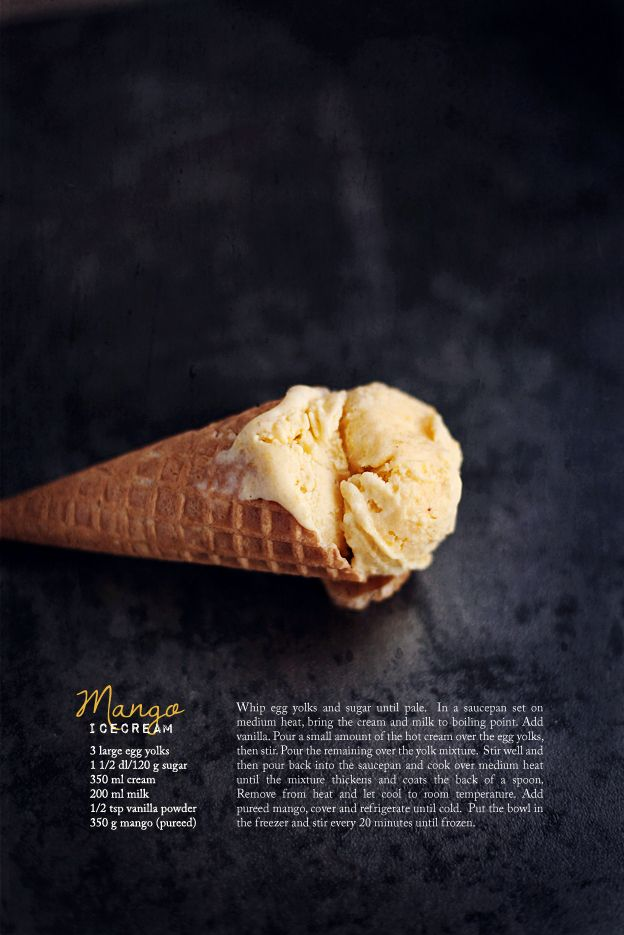 Mango icecream - in lieu of vanilla powder, use 2 t. vanilla extract.
