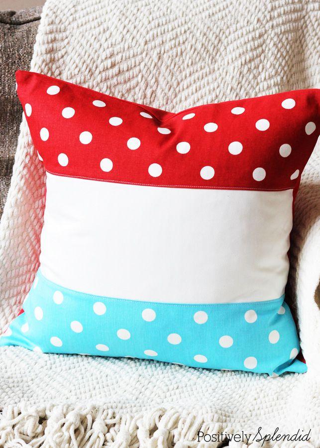Patriotic Color Block Pillow 49 best DIY