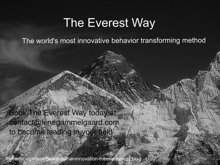 Program you brain The Ewerest Way - to become the leading industry within your field Globally