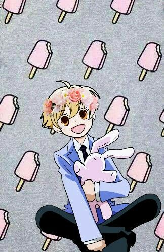 Mitsukuni Haninozuka | Honey-Senpai | Usa-Chan | Ouran High school Host Club | Anime | Cute | Tumblr | PicsArt | Edit