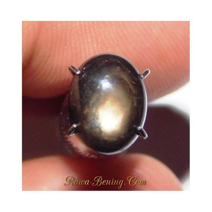 Promo Batu Mulia Natural Black Star Sapphire Oval Cabochon 2.39 Carat