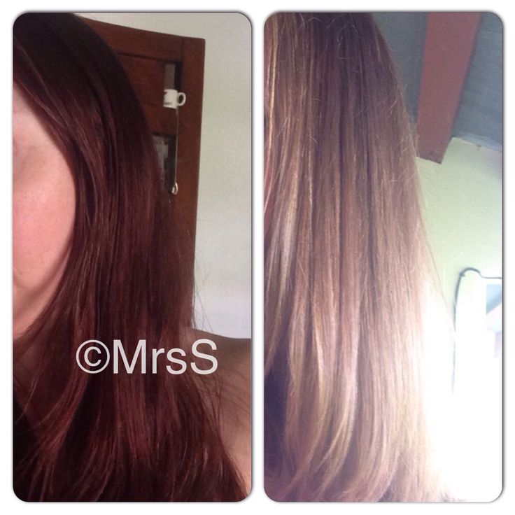 It works! Color Oops rocks! Before and after Mrs S