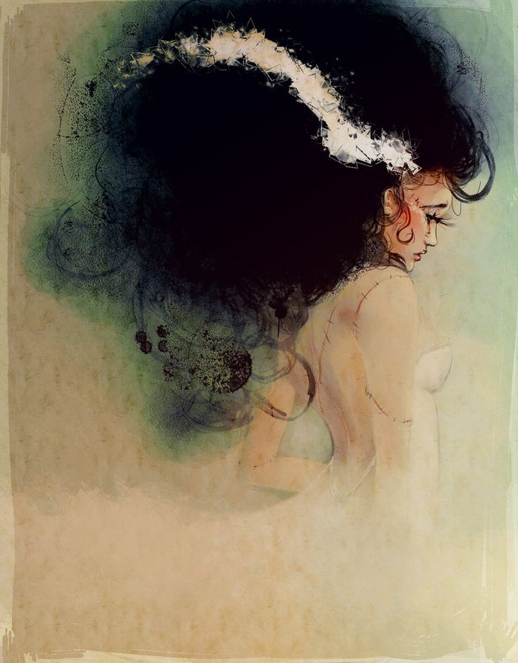 One of the most original Bride of Frankenstein pieces I've ever seen. Gorgeous.