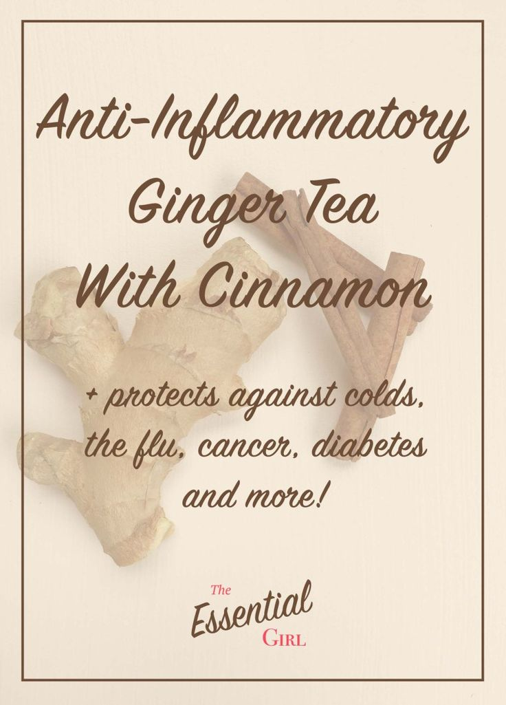 Ginger and cinnamon are both powerful anti-inflammatory agents, among a myriad of other wonderful health benefits. This ginger tea with cinnamon is a perfect addition to a healthy diet, and can protect against colds, the flu, cancer, diabetes, and more! Click to read about how simple it is to make this delicious and healthy tea!
