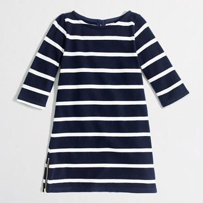 CrewCuts girls' maritime-stripe dress - it's got a zipperrrr!! jcrew