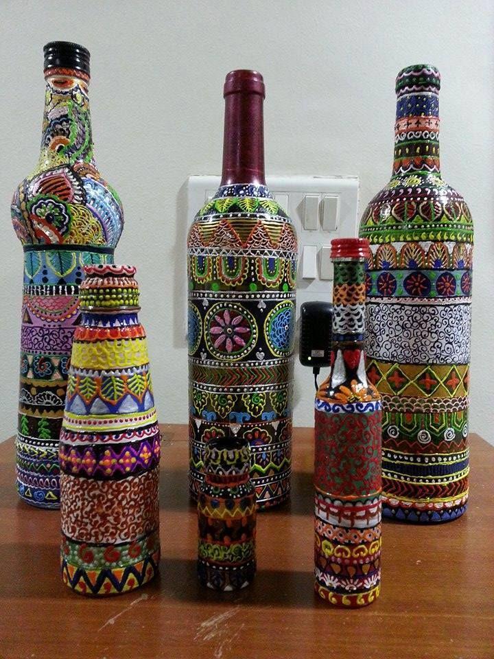 429 Best Bottle Art Images On Pinterest Decorated