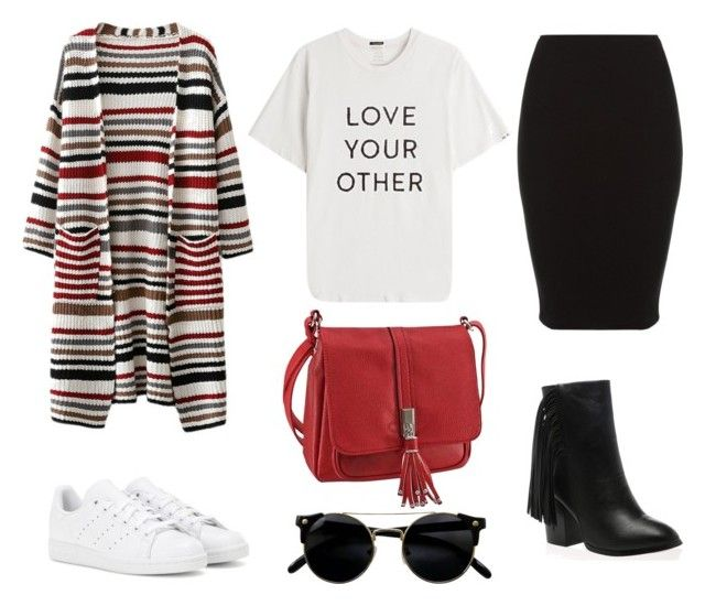 """""""Look do dia #2"""" by bloguerosa ❤ liked on Polyvore featuring Mother and adidas"""