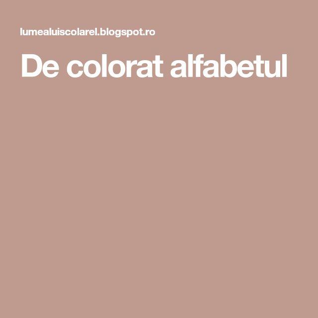 De colorat alfabetul