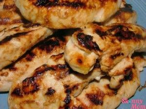 Skinny Cracker Barrel Grilled Chicken - DELICIOUS & less than 200 calories per serving!: Skinny Mom, Crackers Barrels, Food, Barrels Grilled, Honey Chicken, Skinny Crackers, Grilled Chicken Recipes, Chicken Tenders, Chicken Breast