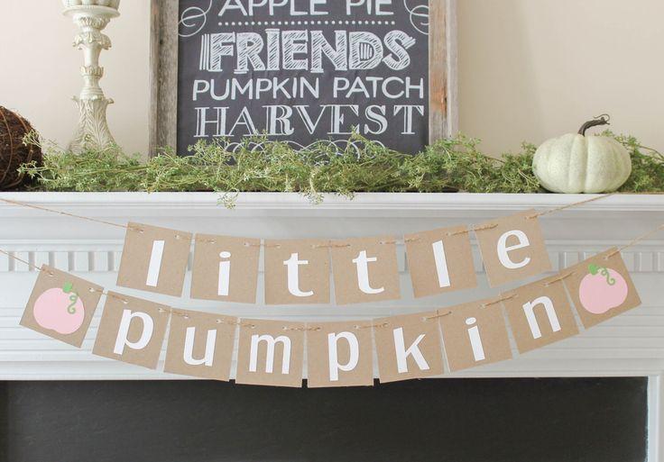Little Pumpkin Banner- Little Pumpkin Baby shower- Little Pumpkin- Fall Baby Shower-Fall 1st birthday- Little Pumpkin Party by BannerStBoutique on Etsy https://www.etsy.com/listing/244008799/little-pumpkin-banner-little-pumpkin