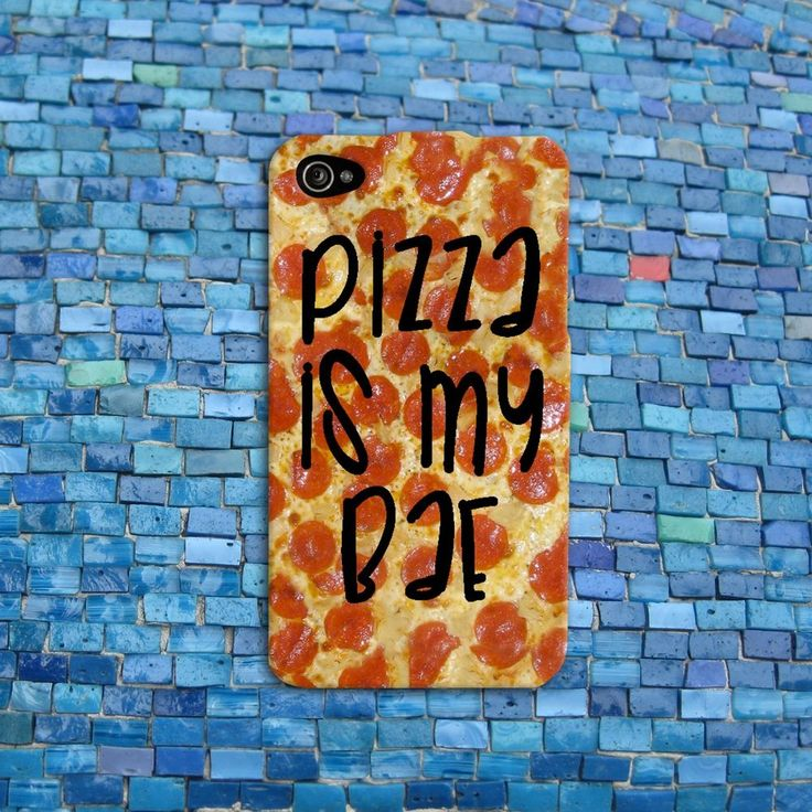 Pizza is my Bae Cute Funny Phone Cover iPhone Case 4, 4s, 5, 5s, and
