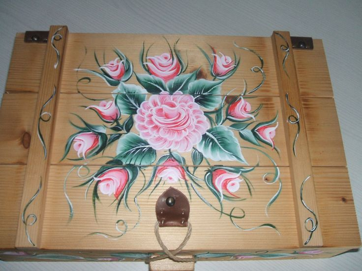 acrilico su cassetta legno