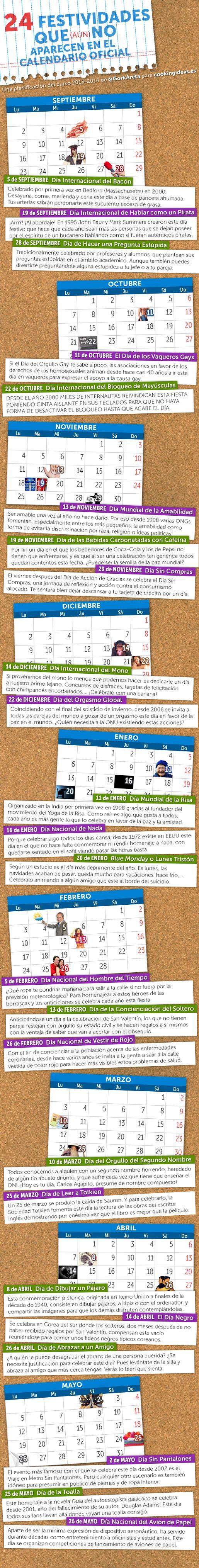 24 días festivos no oficiales para añadir a vuestros calendarios