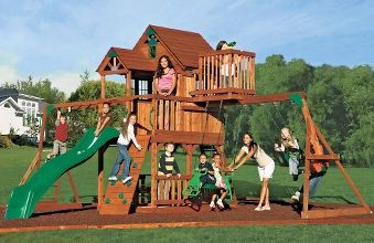 Adventure Playsets Sky Fort Cedar Playset : Cabela's - My boys would never come inside again.