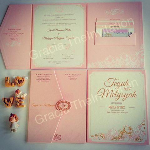 Soft Pastel Invitation - Undangan Pernikahan Soft Pastel with hard cover folded in three. http://www.facebook.com/theinvitation.co.id http://www.theinvitation.co.id