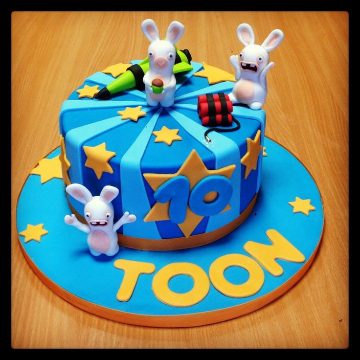 Raving Rabbids cake