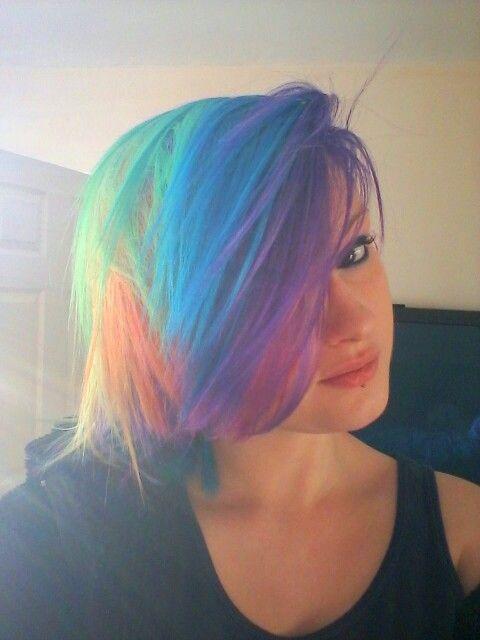 Short Rainbow Hair ♡