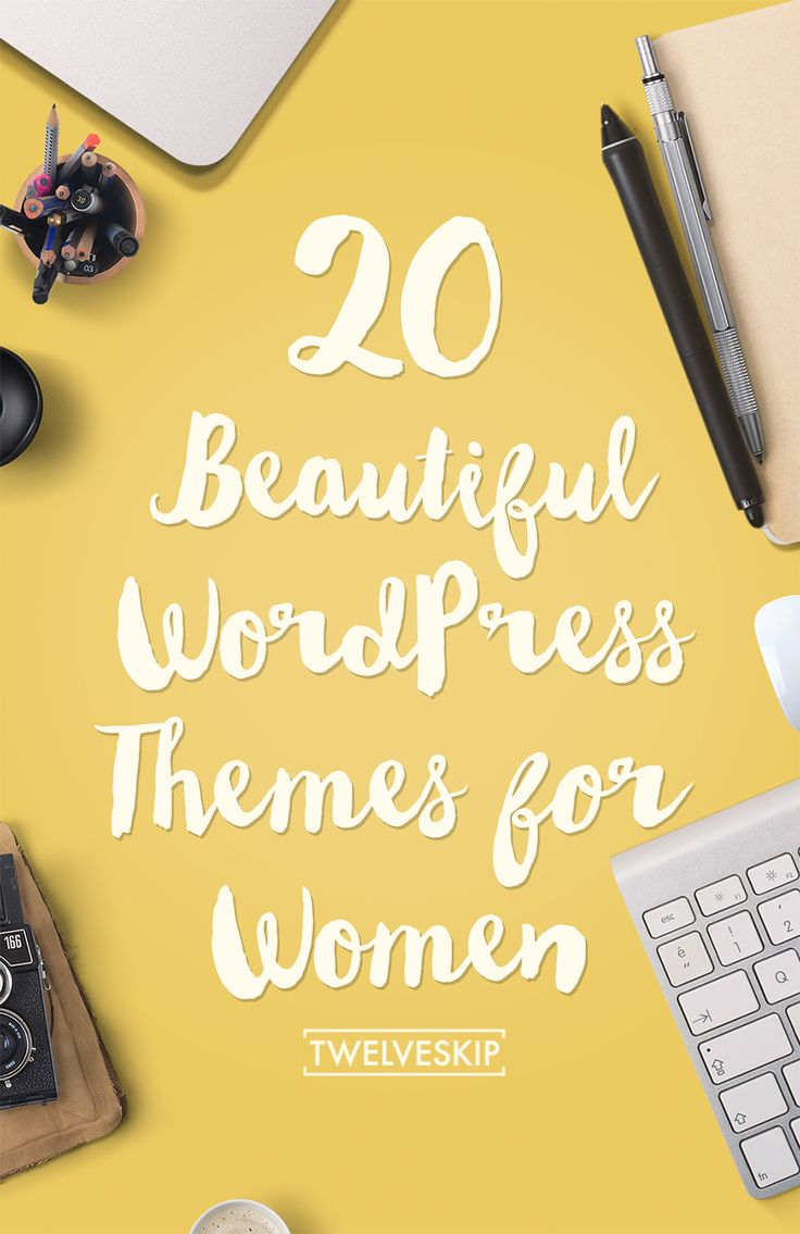 20+ Beautiful WordPress Themes For Women: http://www.twelveskip.com/resources/premium-wp-themes/19/feminine-wordpress-themes-women
