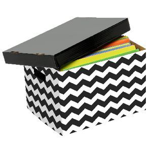 Marbig Patterned Archive Box Black and White