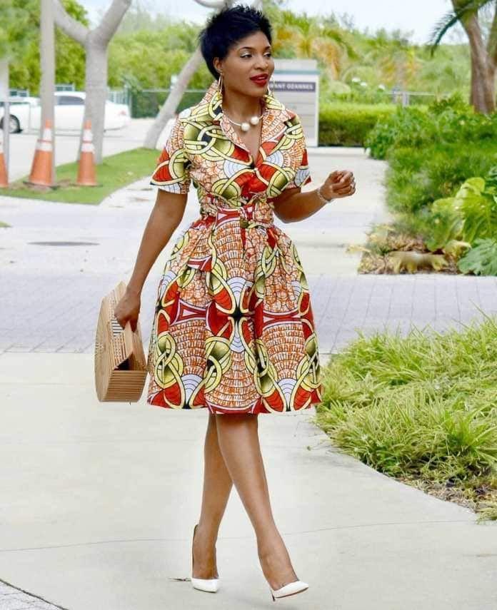 Robe En Wax Vetement Africain Mode Africaine Robe Mode Africaine