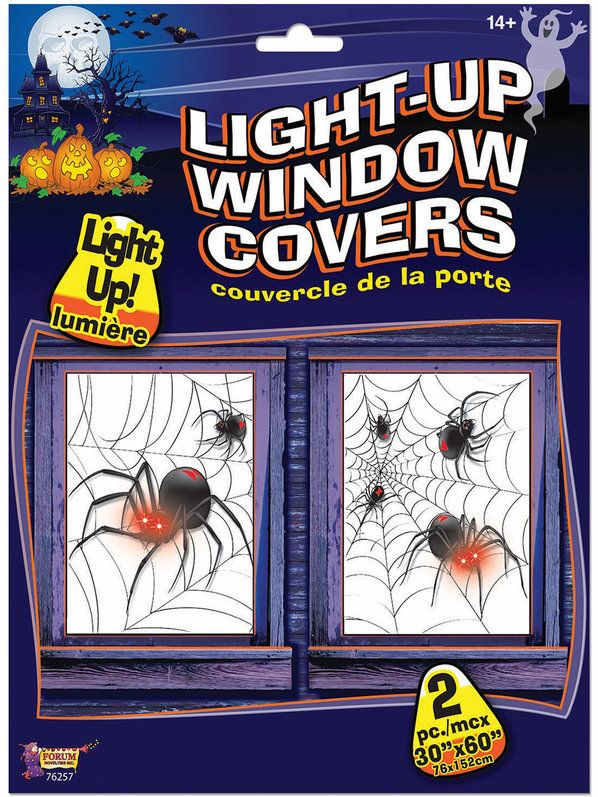 wholesale prices on spider light up window covers props decorations for your home on our guaranteed website