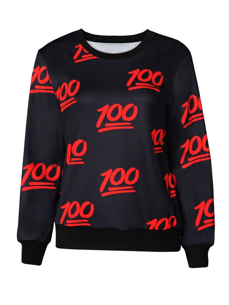 Black 100 Emoji Printed Clothing Sale Emoji T-Shirts Hoodies for Girl/Boy