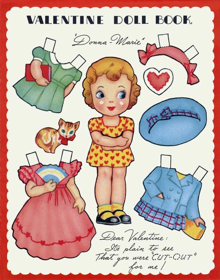 """Reminds me of the greeting cards with paper dolls that great grandma used to send me! #Paper dolls...""""Donna Marie"""""""