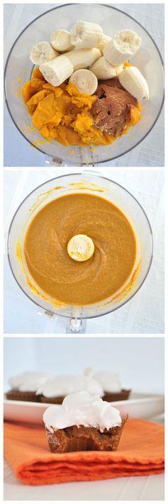 Paleo Pumpkin Pie Cupcakes- Paleo, Gluten Free