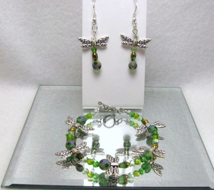 Dragonfly Dance - Jewelry creation by Linda Foust
