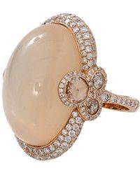Inbar   Cabochon Moonstone Diamond Ring   Lyst