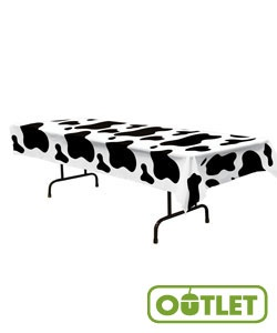 HayDay VBS | Cow Print Table Cover | Use for registration or anywhere you want to announce your VBS theme! #VBS