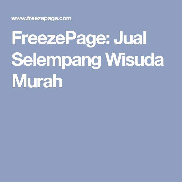 FreezePage: Jual Selempang Wisuda Murah