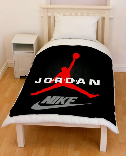Michael Jordan Chicago Bulls Basketball Swoosh Blanket Throw In