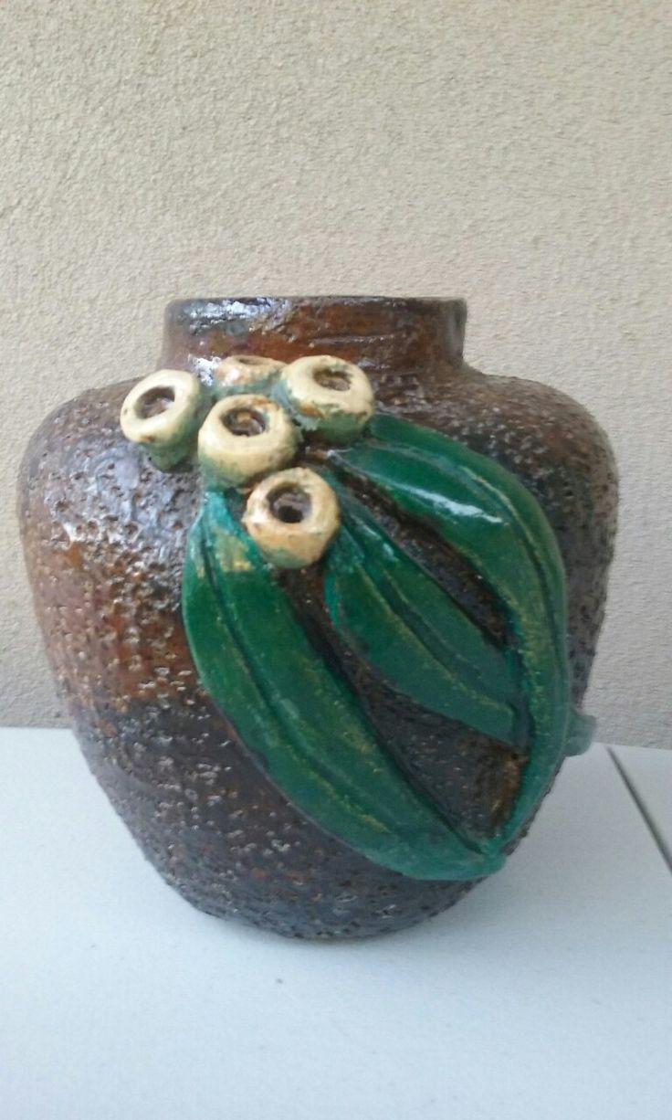 Australian pottery gum nut vase