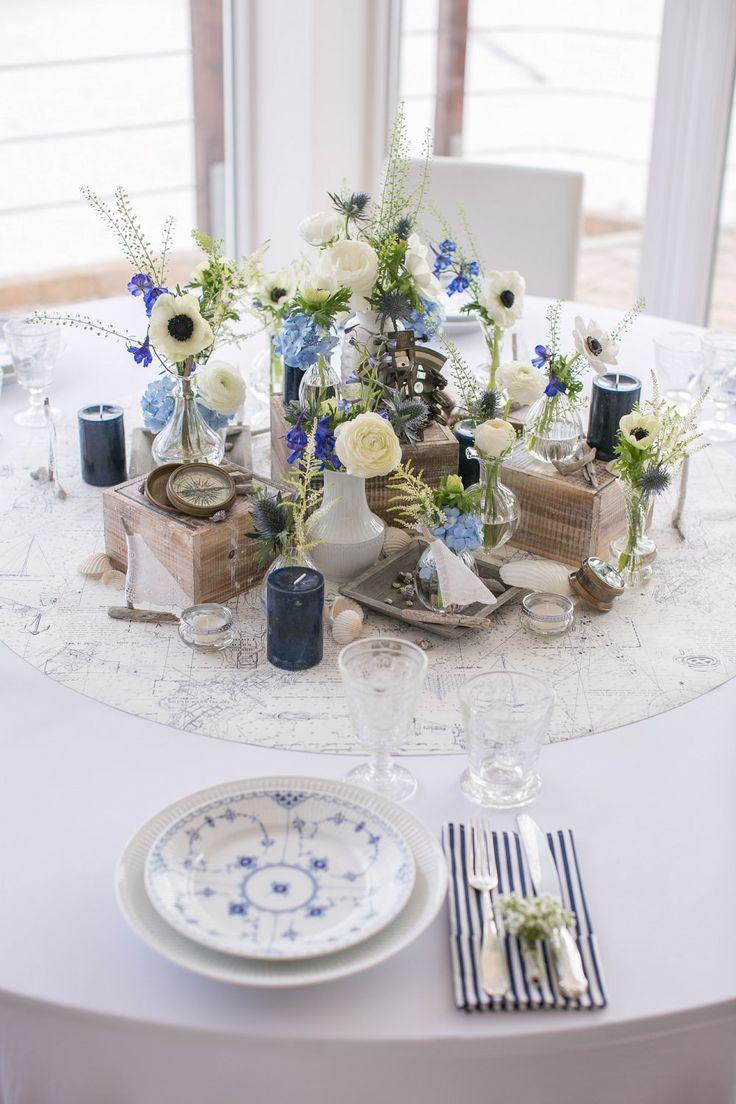 Tischdekoration Maritim Fur Hochzeit In Blau Weiss Tischdeko