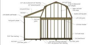 12' x 16' Gambrel Shed w/ Porch