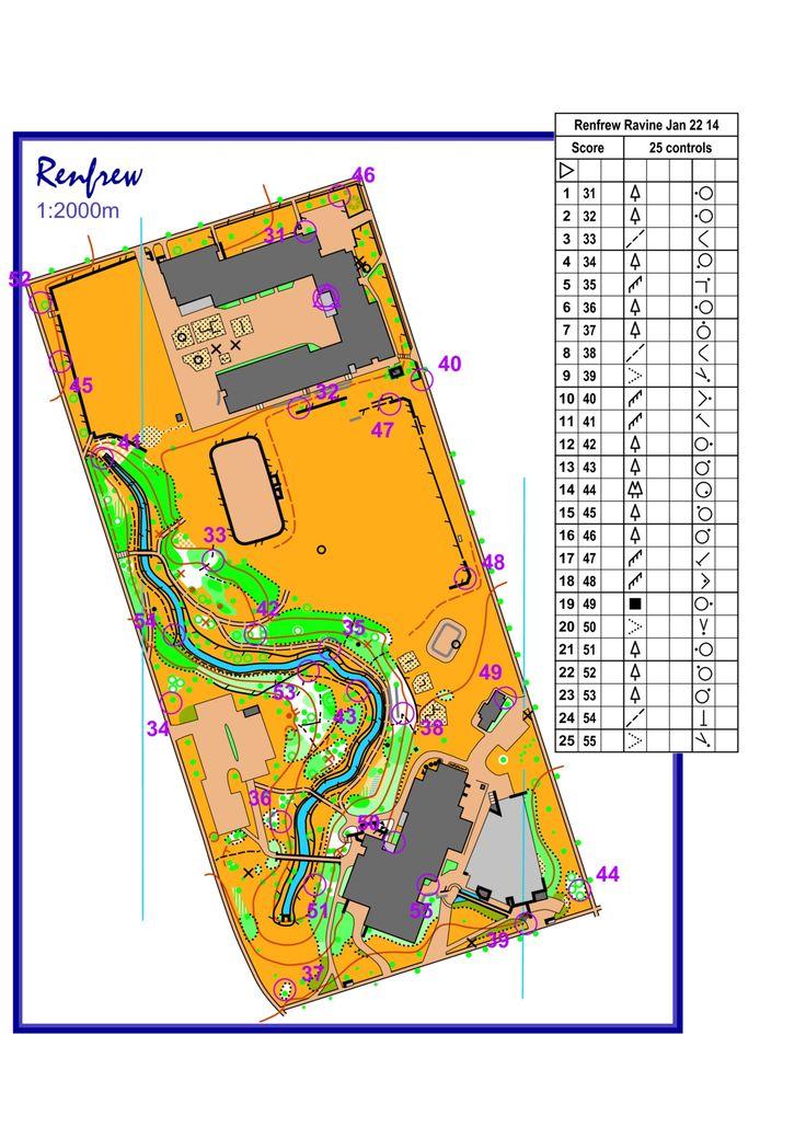 January 22nd 2014 6:30pm - Renfrew Ravine Park - Score-O course