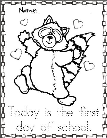 kissing hand activities free chester the raccoon coloring page first day of school with the kissing hand story - Chester Raccoon Coloring Page