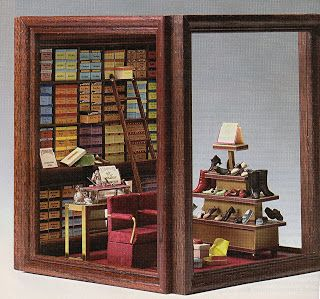 Tutorial for mini rooms and display boxes from picture frames by Joann Swanson of DIY  Dollhouse Miniatures.