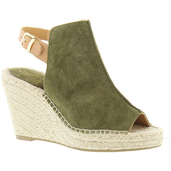 Seychelles Charismatic Women's Green Sandal 6.5 M ($130) ❤ liked on Polyvore featuring shoes, sandals, green, espadrille wedge sandals, wedge heel sandals, ankle wrap sandals, platform espadrille sandals and green sandals