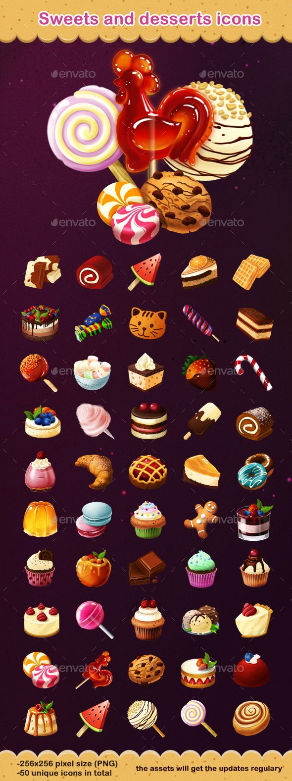 Sweets and Desserts Icons Download link: https://graphicriver.net/item/sweets-and-desserts-icons/19875199?ref=klitz