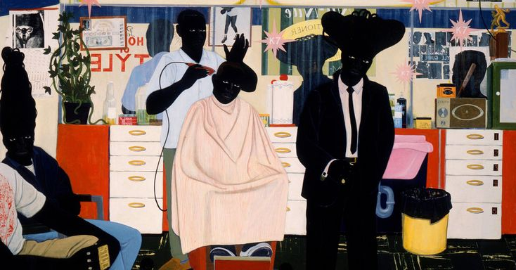 """Mr. Marshall has always painted only black figures: """"If I didn't do it, how else…"""
