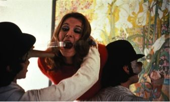 The classic film 'A clockwork Orange' features many scenes of women being abused in various manners.
