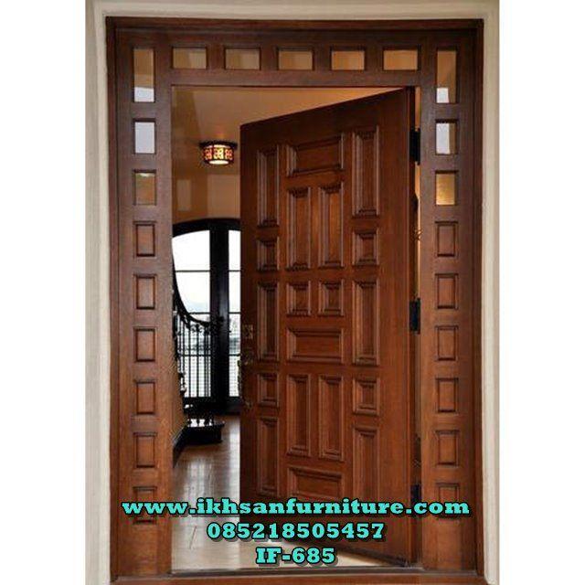 Pintu Utama Satu Pintu Jendela Kaca