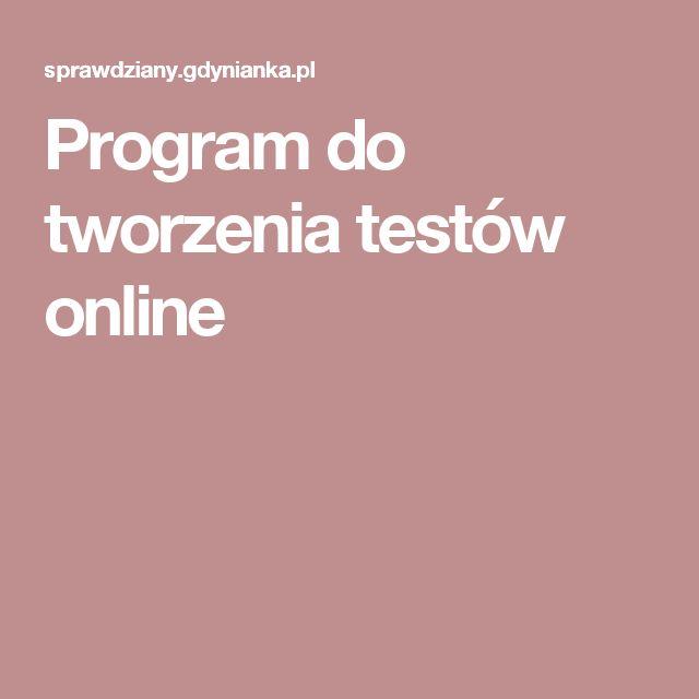 Program do tworzenia testów online
